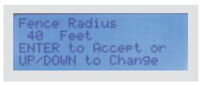 Changing Fence Radius